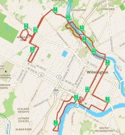DE Half Marathon Course