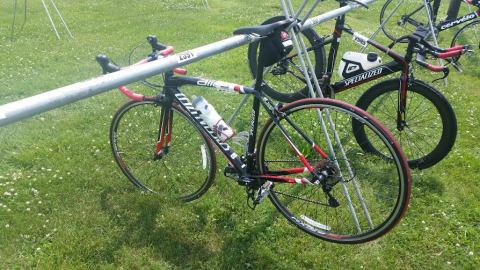 Bike Racked in Transition 2