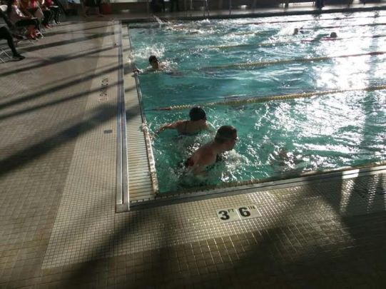 Bradley Indoor Triathlon-In the Pool