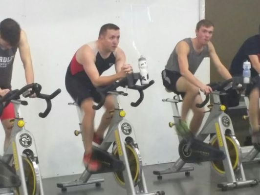 Bradley Indoor Triathlon-On the Bike